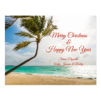 Swaying Palm Trees Merry Christmas Postcard