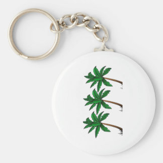Swaying Palms Basic Round Button Keychain