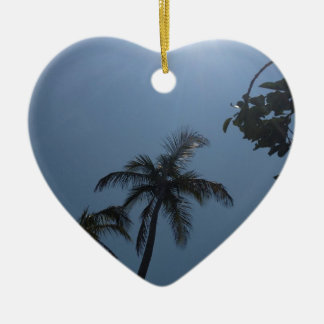 Swaying Palms Ceramic Ornament