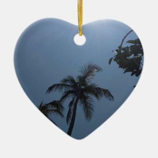 Swaying Palms Ceramic Ornament