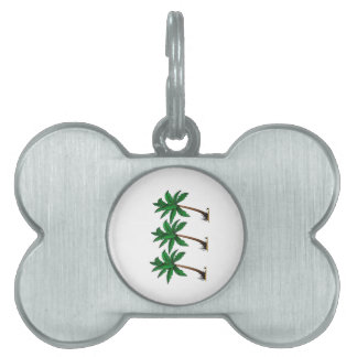 Swaying Palms Pet Name Tag