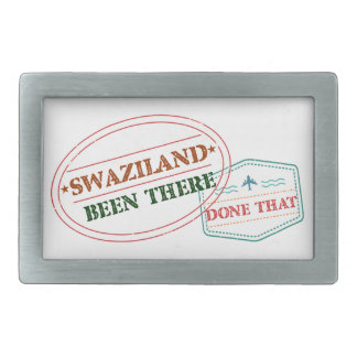 Swaziland Been There Done That Rectangular Belt Buckles