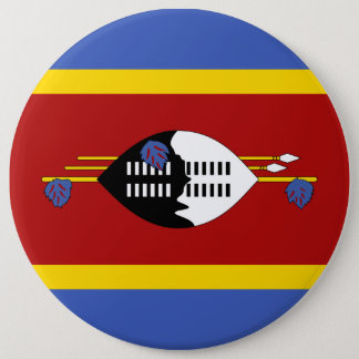 Swaziland Flag 6 Inch Round Button