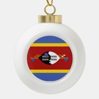 Swaziland Flag Ceramic Ball Christmas Ornament