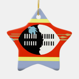 Swaziland Flag Ceramic Ornament