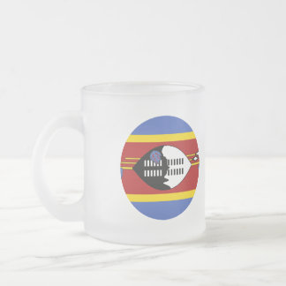 Swaziland Flag Frosted Glass Coffee Mug