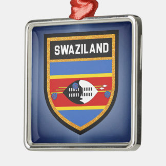 Swaziland Flag Metal Ornament