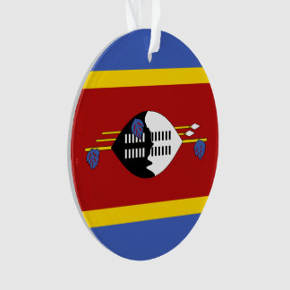 Swaziland Flag Ornament