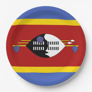 Swaziland Flag Paper Plate