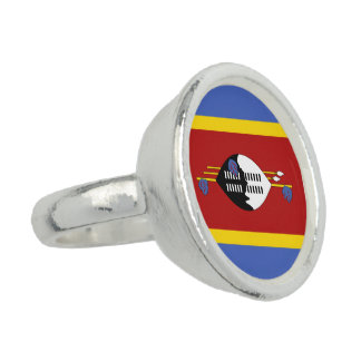 Swaziland Flag Photo Ring
