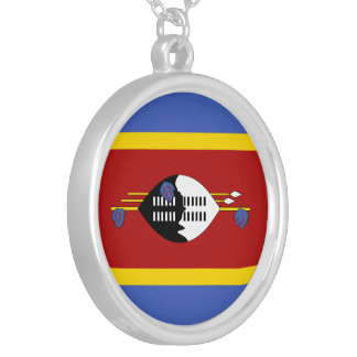 Swaziland Flag Silver Plated Necklace