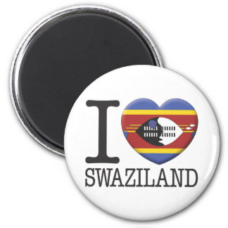 Swaziland 2 Inch Round Magnet