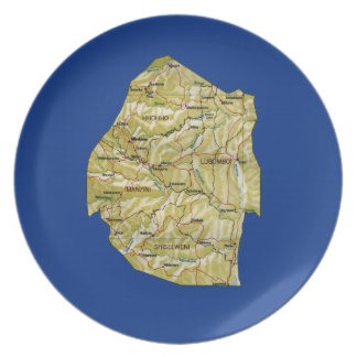 Swaziland Map Plate
