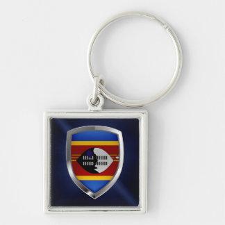 Swaziland Metallic Emblem Keychain
