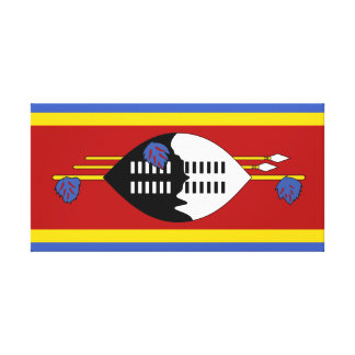 Swaziland National World Flag Canvas Print