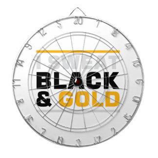Sweat Black & Gold Dartboard With Darts