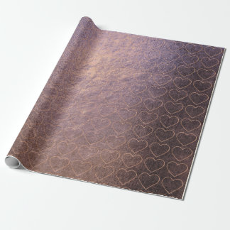 Sweat Heart Blush Pink Rose Gold Purple Lilac Wrapping Paper