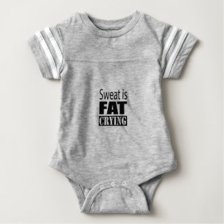 Sweat is fat crying baby bodysuit