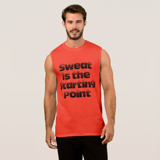 Sweat is the Starting Point Cotton Sleeveless Tee