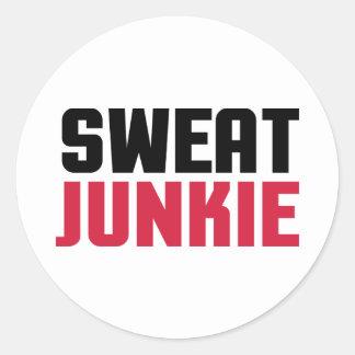 Sweat Junkie Gym Quote Classic Round Sticker