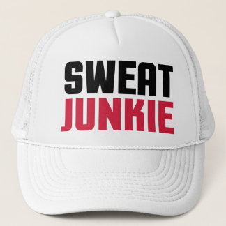 Sweat Junkie Gym Quote Trucker Hat