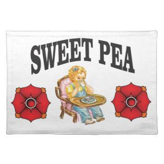 sweat pea kid placemat