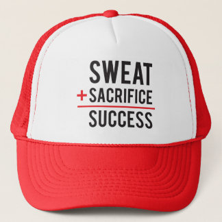 Sweat Plus Sacrifice Equals Success - Inspiration Trucker Hat