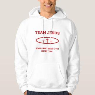 Sweat - shirt à capuche de Jésus d'équipe