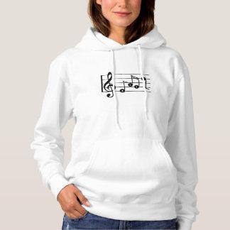 Sweat shirt musical de chanteur d'alto (lumière)