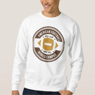 Sweat White Man BASIC Football Sweatshirt