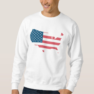 Sweat White Man BASIC the USA Sweatshirt