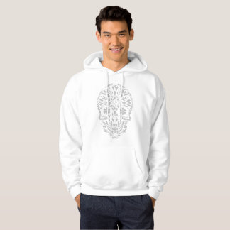 Sweat with basic hood for man, White Hoodie