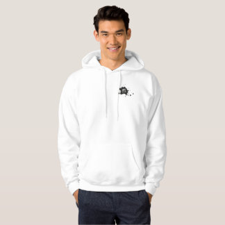 Sweat with basic hood for man, White INL Hoodie
