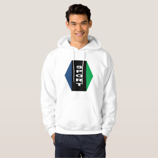 Sweat with basic hood white OTTAWA Hoodie