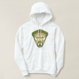 """Sweat with hood """"Haile I"""" army for man, White Hoodie"""