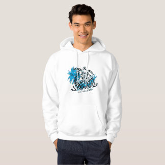 Sweat with hood white man tortoise polnésienne hoodie