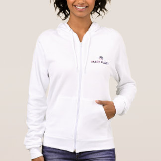 sweat with hood white woman logo galaxy hoodie