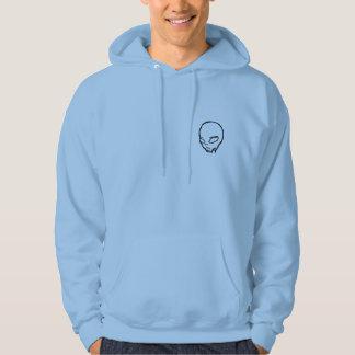 Sweat with hood with head alien blue sky hoodie