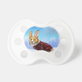 sweater corgi 2 pacifier
