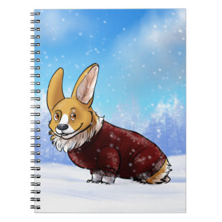 sweater corgi 2 spiral notebook