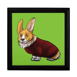 sweater corgi gift box