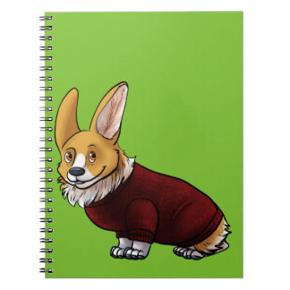 sweater corgi notebook