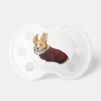 sweater corgi pacifier