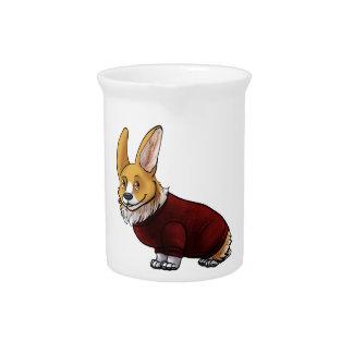 sweater corgi pitcher