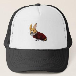 sweater corgi trucker hat