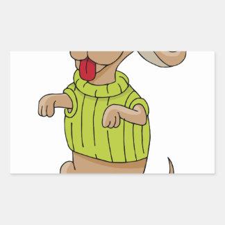 Sweater Dog Sitting Up Cartoon