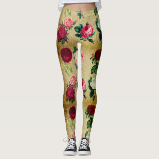 Sweater Print with Floral designs Leggings