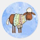 sweater sheep round sticker