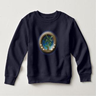Sweater shirt of polar lining for children, Blue