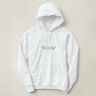 Sweater shirt with white hood